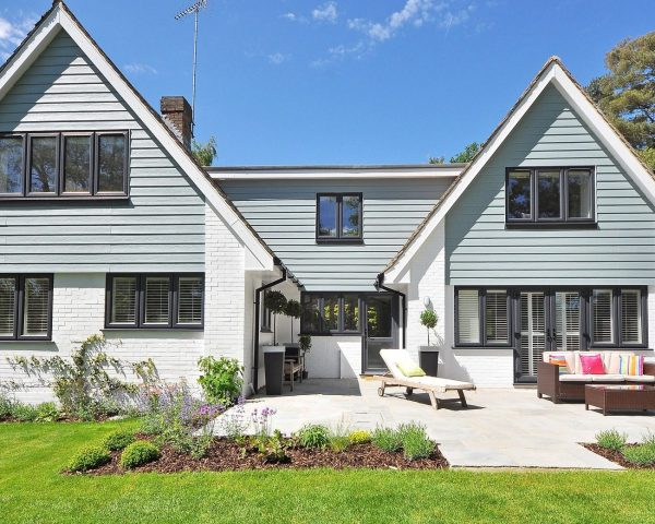 newly roofed new england style home